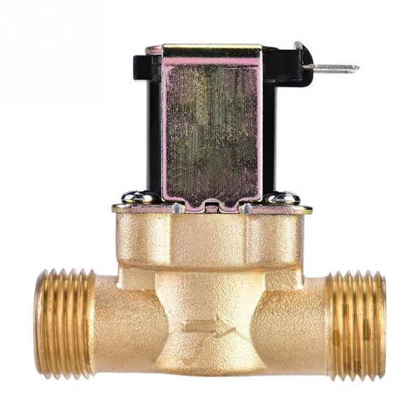 Wholesale electric solenoid valve water for sale - Group buy Valve DC V AC220V Electric Solenoid Magnetic Valve Normally Closed Brass Valves For Water Control inch inch