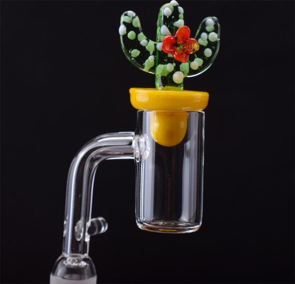2mm Thick Quartz Enail Domeless With Cactus Carb Cap Quartz Banger Nail kit For 16mm 20mm Heating Coil portable Glass Bongs