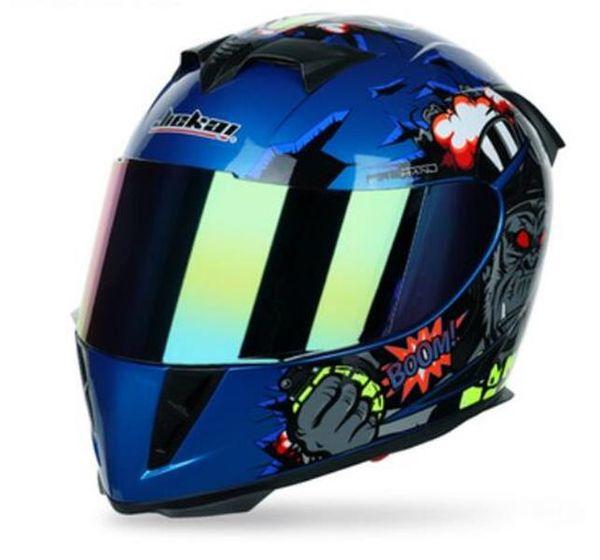 top popular Motorcycle head gray hel male knight full hel full cover four season helmet running helmet double lens locomotive helmet 2021