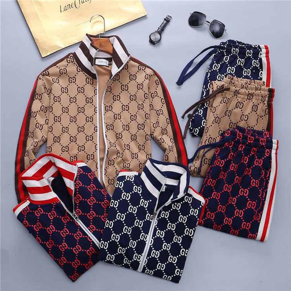 di 19ss nuovi Mens Tute Donne Felpa con cappuccio famosi uomini di disegno casuale Pullover due pezzi Felpa Suits Primavera Autunno su base trimestrale