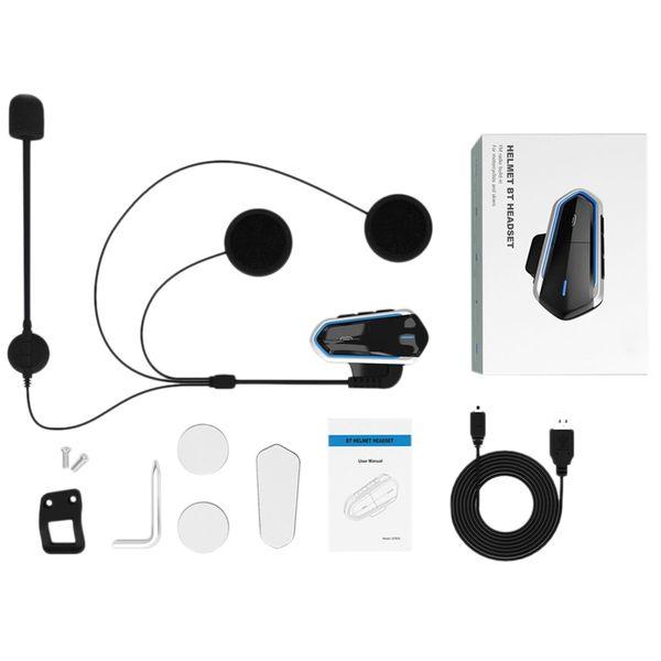 Neue motorradhelm drahtlose bluetooth headset walkie talkie bt mp3 lautsprecher kommunikator headset mit fm auto dvr