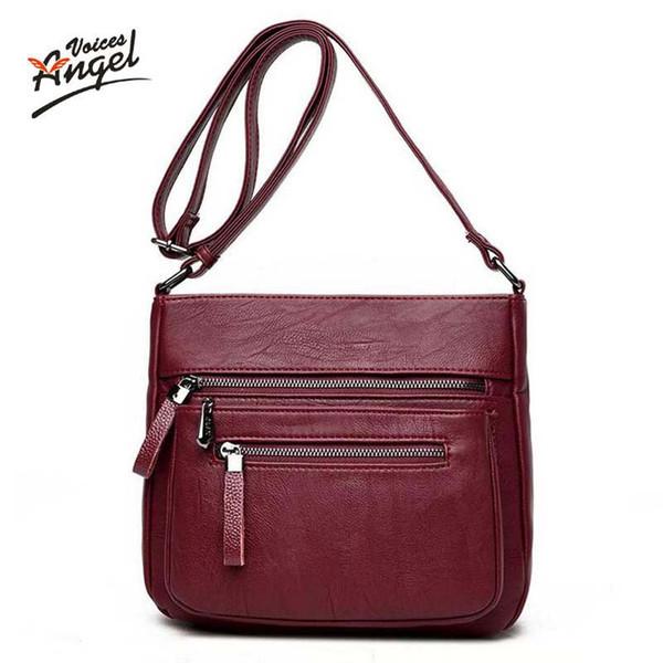 uggage Bags Handbags Angel Voices fashion women messenger bags pachwork envelope casual shoulder bag high quality PU soft zipper solid ne...