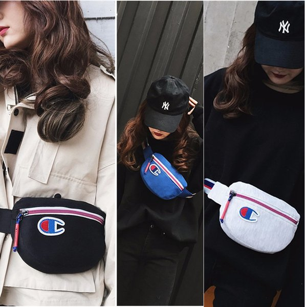 ins Champion Bags Brand Designer Canvas Backpack Fashion Men Women Casual Sports Waist Bag Travel Phone Wallets Cheap C3152