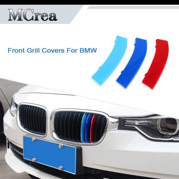3 unids coche Motorsport Emblem pegatinas para BMW 5 Series E60 E39 F10 G30 2018 2017 F07 parrilla delantera cubre M accesorios de rendimiento