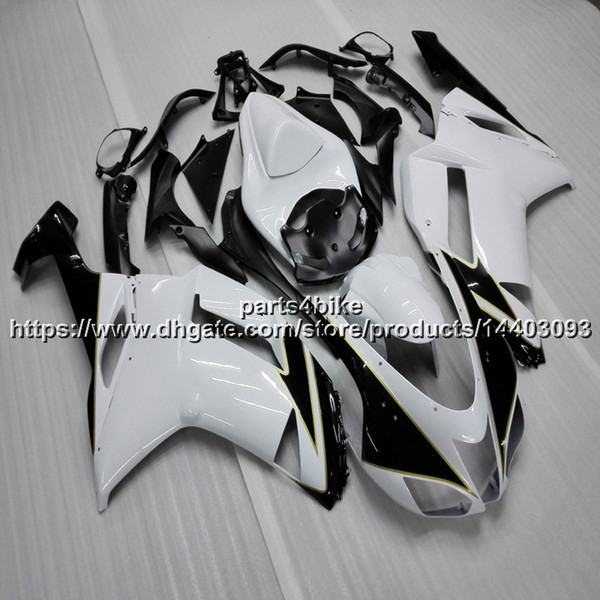 23 cores + 5 presentes + botls preto branco motocicleta carenagem para kawasaki zx6r 2007-2008 zx-6r 07 08 zx 6 r body kit painéis de motocicleta
