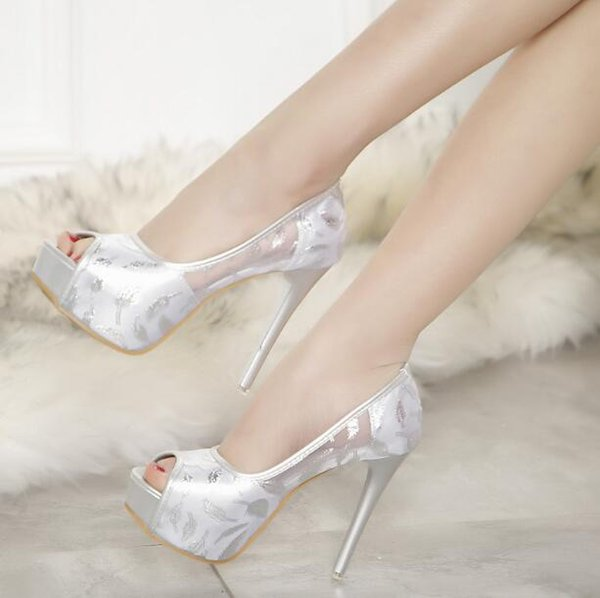 New season Designer open toes pumps Women Lace Stiletto luxury Lady princess shoes Preppy Style Party shoes high heel Sandals with box