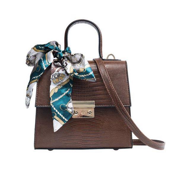 Fashion Women's Designer Handbag Bow Portable Square Bag Quality Pu Leather Women Bag Lock Tote Shoulder Crossbody Bag Lw-168