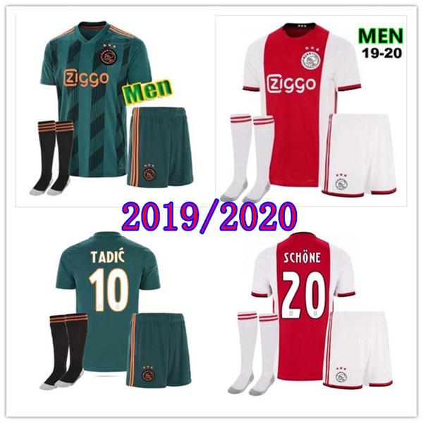 2019 2020 AJAX camisa FC 19 20 ajaxa msterdam DE JONG TADIC ZIYECH camisa de futebol jersey de futebol S-2XL