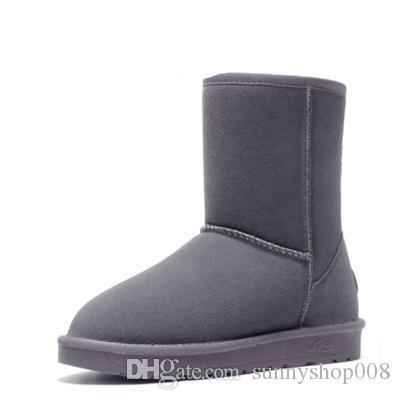 2017 Fashion Classic Brand popolare in vera pelle donna stivali da neve moda donna scarpe stivali spedizione gratuita