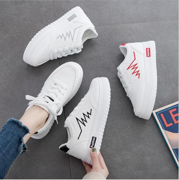 d90397eac1e6db Yeni bayan ayakkabıları 2019 ilkbahar ve yaz modelleri nefes moda vahşi  öğrenci spor ayakkabı kızlar beyaz