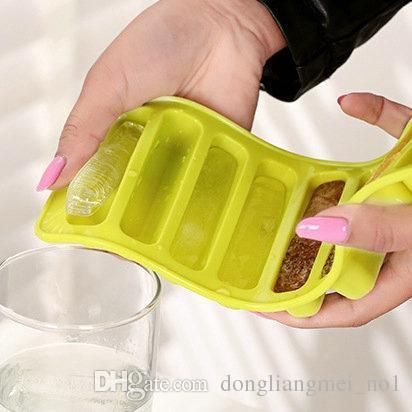 DLM2020 Lady Finger Mold Silicone Bakeware muffe muffa del cioccolato 10 fori lungo dito torta Stampi Pollice Cookies Stampi Strumenti di cottura wn033C
