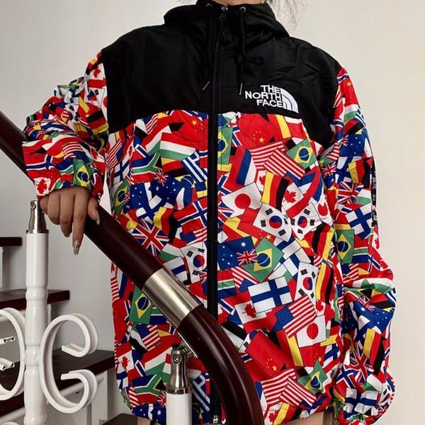 Unisex Americano Trench Coats mens hip hop ferramenta tendência moletom com capuz bolso longo costura bordado carta impressão à prova d 'água jaqueta