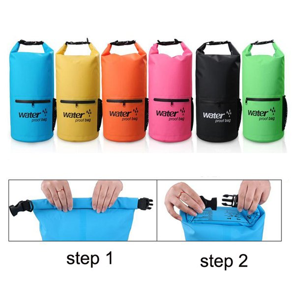 20L PVC Swimming Bag Waterproof Dry Bag Portable Outdoor Sport Waterproof Backpack Storage For Camping Surfing Boating Hiking Free DHL M234Y