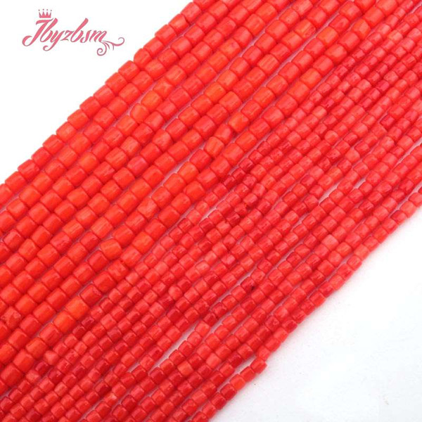 """2mm,3mm Smooth Column Orange Coral Beads Natural Stone Beads For DIY Necklace Bracelets Earring Jewelry Making 15"""" Free Shipping"""