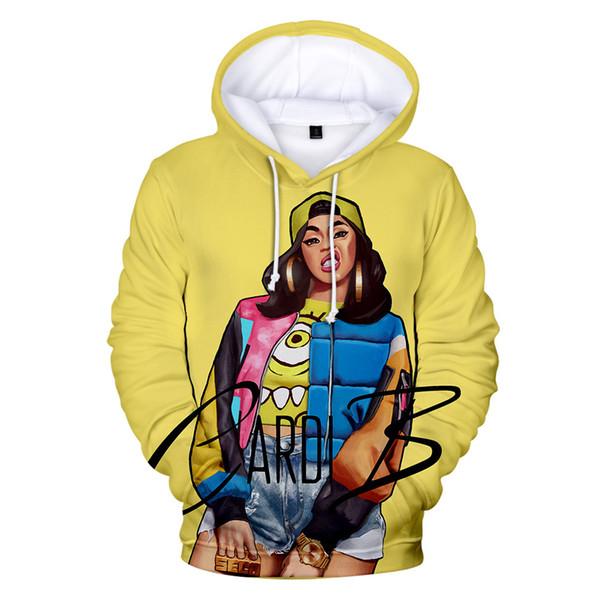 Cardi B 3D Print Couple Sweatshirts Mens Womens Designer Hoodies Winter Clothing Hooded Fashion Casual Apparel