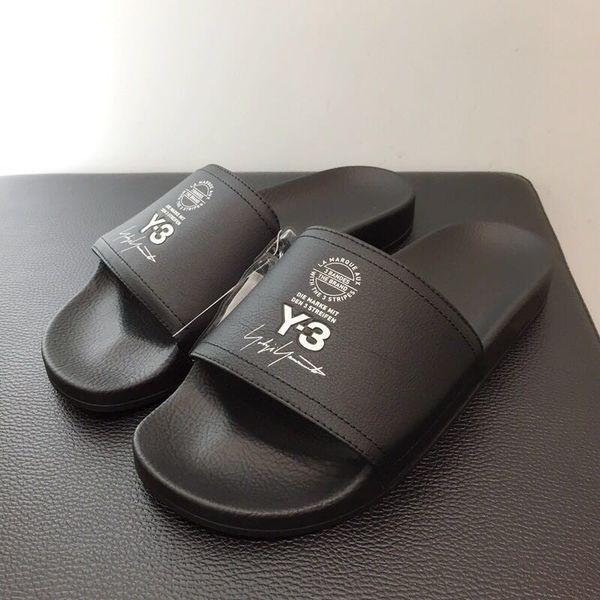 2019 Verano Nueva Llegada Diseñador de la Marca de Lujo de Calidad Superior Hombres Mujeres Y-3 Zapatillas Y3 Sandalias de Playa Scuffs EURO Tamaño 36-45