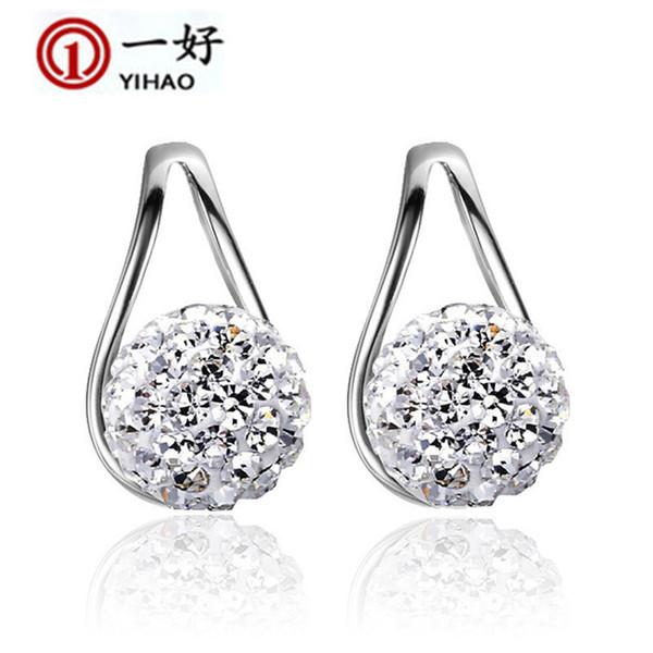 2016 yeni Xiangbala tam elmas topu 925 saf Tremella tırnak kadın kulak