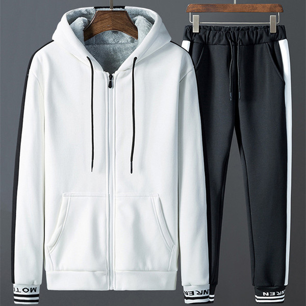 New Men Size S-4XL Sports Suit Set Hoodie Sweatshirt Pants Top Tracksuits Casual