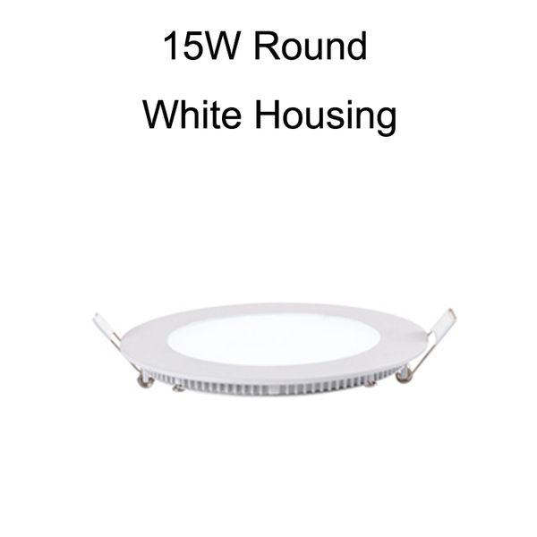 15W Round White Housing
