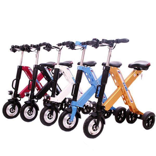 Daibot électrique à 3 roues Scooter Mini électrique Vélos 10 pouces 350W 36V rapide pliables Vélos électriques portables Adultes Femmes