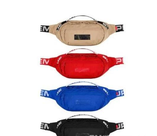 Sup 18SS Waist Bag 44th Unisex Fanny Pack Moda Uomo Canvas Uomo Messenger Bags 17AW Tracolla