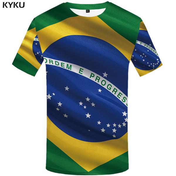 KYKU Brand Brazilian flag T shirt Brazilian flag T-shirt 3d t-shirt anime femme male shirt styles t men funny mens clothes