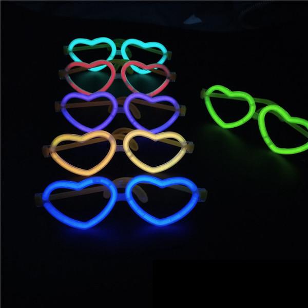 6 estilos de óculos fluorescentes de Luz de Natal Varas de luz de incandescência adereços brinquedos fluorescentes das crianças Favor de Partido decoração suprimentos FFA2163