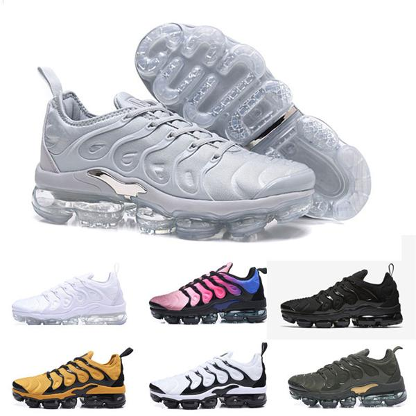 Acheter Nike Air Tn Vapormax Plus Regency Purple Hommes Femmes Triple Chaussures De Plein Air Blanc Presto Olive Formation Designer Sport TN Baskets
