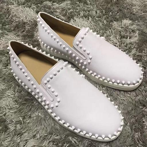 2019 Men's Luxury Designer Pik Pik Spikes Boat Sneakers Shoes Red Bottom Loafers Comfortable Casual Leisure Flats,Women Party Wedding p17