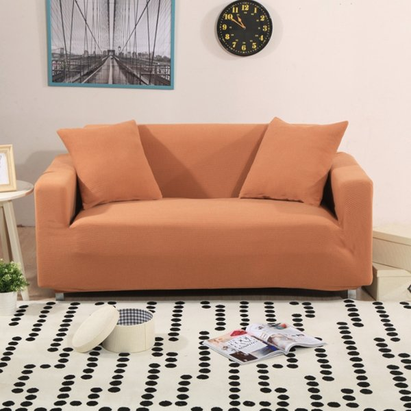 Stretch Slipcover Sofa Covers For Living Room Elastic Fabric Anti Mite  Universal For Single/Double/Three/Four Seat Solid Color Living Room Chair  ...