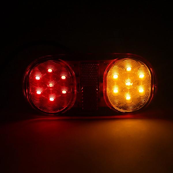 wholesale 2 PCS Auto Car Signal Lamp Caution Lights Fog Light Bulbs Waterproof 14 LEDs Taillights Trailer Truck Stop Rear Tail Light