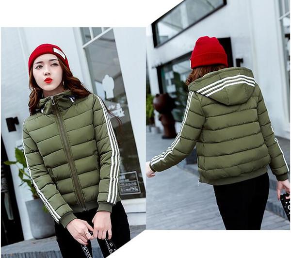 2018 Autumn And Winter Short Women Coat Casual Slim Thick Parkas Winter Jackets Female Plus Size S-3XL