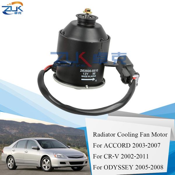 top popular Radiator Cooling Fan Motor For HONDA ACCORD 2003-2007 CM4 5 CR-V 2002-2011 RD RE ODYSSEY 2005-2008 RB1 2.0L 2.4L 19030-RAA-A01 2021