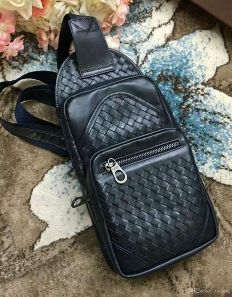 2019 boyfriend gift! men handmade material handbag classic business men office genuine cow leather bag braid casual kintting cross body 36cm