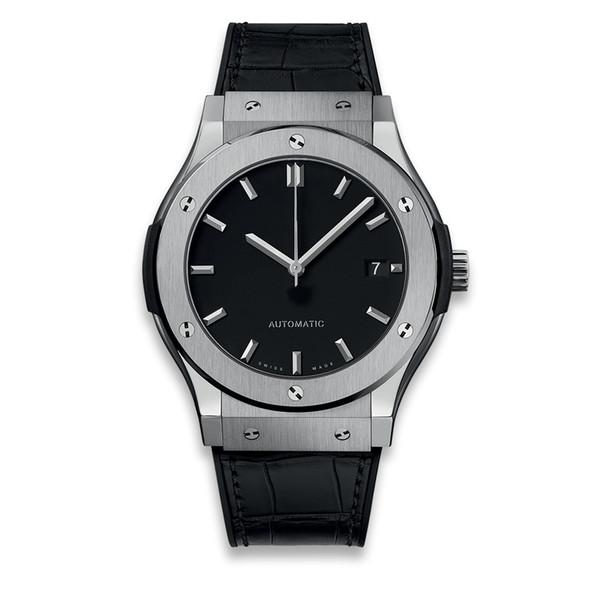 Diseñador militar deportivo reloj de lujo suizo automático mecánico hombres gris azul negro cuero correa de goma hombres hombres relojes reloj de lujo