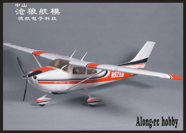 top popular rc EPO plane RC airplane RC MODEL HOBBY TOY BEGINNER plane 5 channel 1410mm WINGSPAN CESSNA 182 (have kit set or PNP set) 2021