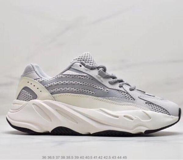 Desiner rahat ayakkabılar Kanye West Dalga Koşucu 700 Seankers Spor Koşu Ayakkabıları Erkek Kadın Katı Gri Tebeşir Çekirdek Siyah Spor ayakkabı
