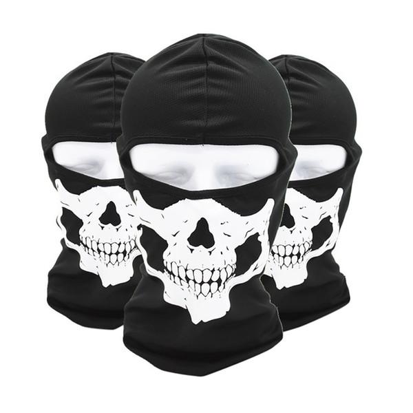 3D Skeleton Skull Seamless Magic Scarf Face Mask Fishing Cycling Ski Bandanas Outdoor Headband Tube Scarf Neck Scarves #0702