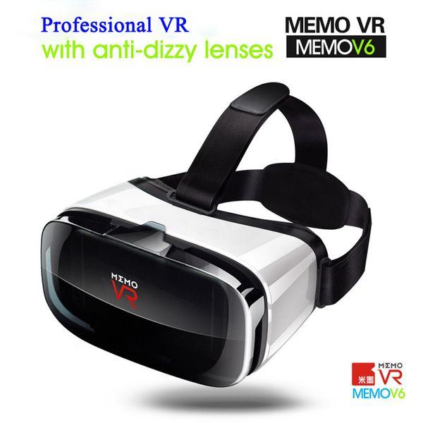 MEMO VR Glasses 3D Glasses Google Cardboard V6 Virtual Reality Original Box VR Headset For Smartphone for Android IOS#25