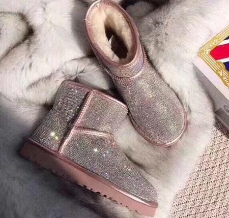 2019 stivali invernali Australia con paillettes classici per donna stivali da donna alla caviglia con design in pelliccia di caffè nero rosa castagna con stivali U8