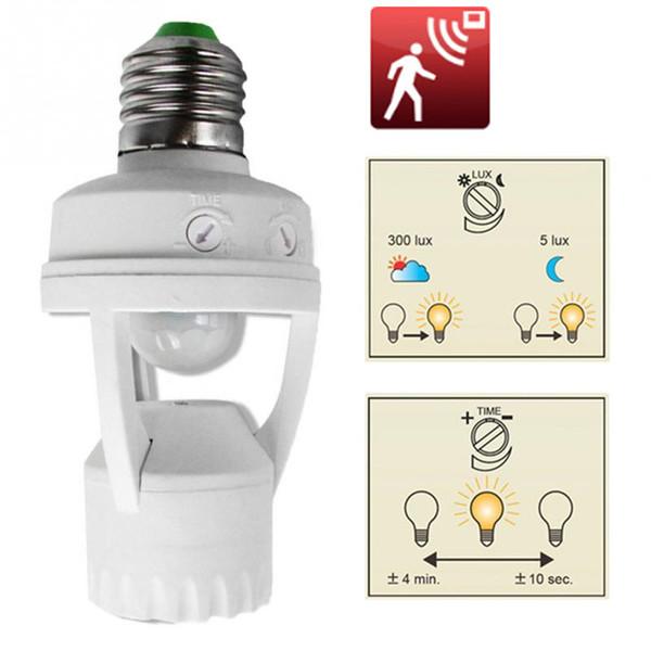 E27 B22 360 градусов ИК-датчик движения Индукционный инфракрасный человек Головка лампы Гнездо LED Фары Датчик Переключатель База Держатель лампы