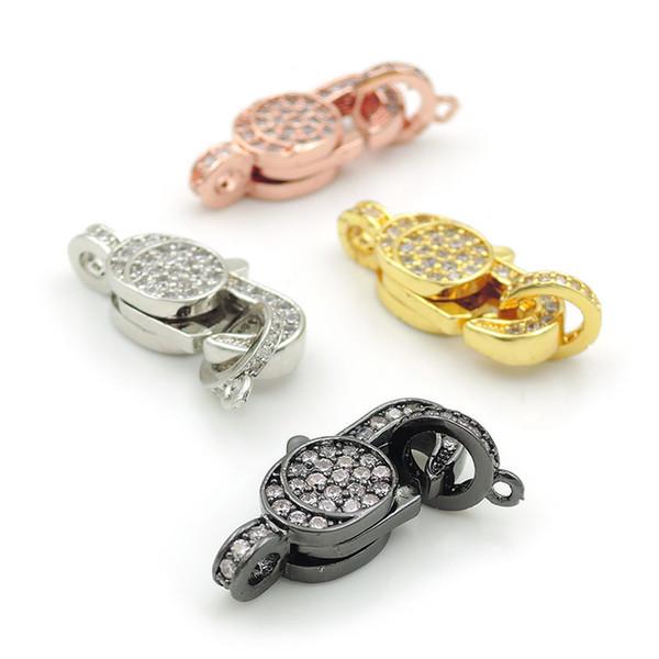 21 * 8 * 5mm Micro Pave Clear CZ Fischschwanzverschlüsse Zubehör Fit Für Die Herstellung Von DIY Armbänder Oder Halsketten Schmuck