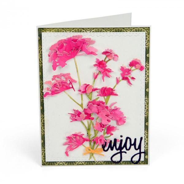 Wild Flower Die Metal Cutting Dies Stencil for Scrapbooking Photo Album Embossing Paper Cards Making Decorative Crafts Template