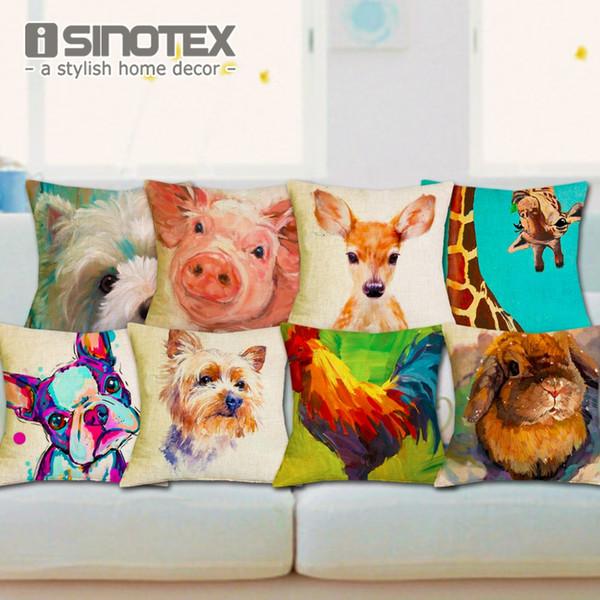sofa bed Nordic Fashion Throw Pillow Cushion Cover Home Decor Sofa Bed Cute Animal Printed Linen Square Cushion Cojines Almohadas