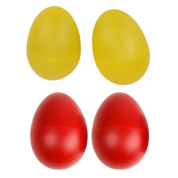 top popular 4 Pieces Percussion Musical Instrument Egg Maracas Shakers Toy Gift - Red Yellow 2021