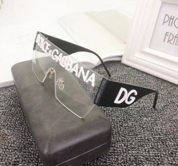 2020Luxury Nouvelle Madame lunettes de soleil style mode vintage métal design hommes sans cadre carré UV 400 lentille No boîte