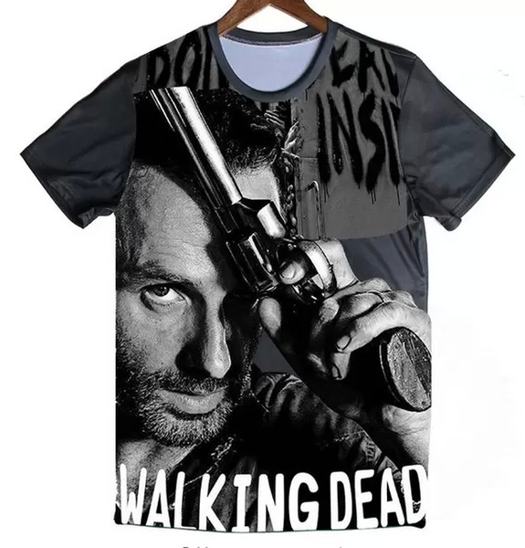 Wholesale Newest Fashion Mens/Womans The Walking Dead Summer Style Tees 3D Print Casual T-Shirt Hip Hop Tops Quick Dry Tees Plus Size