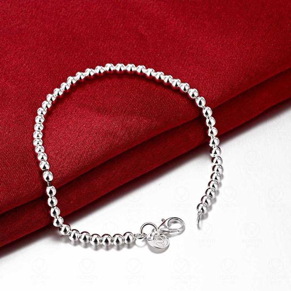 Charm Bracel Bellamente plateado pulsera de cuentas lisas joyería salvaje dama moda linda joyería de alta calidad Pulseras de cuentas de cadena Pulsera