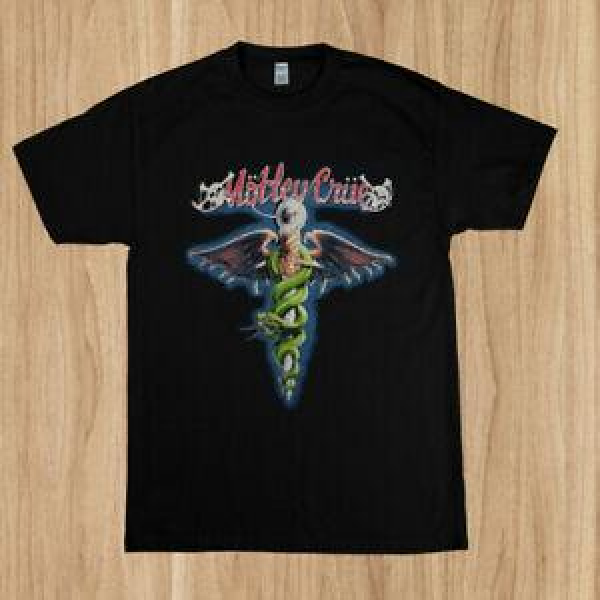 Vintage 1989 Vintage MOTLEY CRUE Camiseta Dr. Feelgood Reimpresión Tamaño S - 5XL