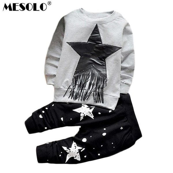 2019 Clothes Sets Newborn girls Boys Autumn Children Clothing Sets Kids 2pcs clothing set suit baby shirt+pants sets